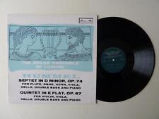 Hummel Septet In D Quintet In E Melos Ensemble London LP SOL 290