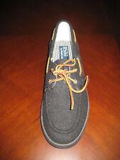Ralph Lauren Sanders Men's Loafer Boat Shoes 9.5 10 9.5D 10D Charcoal Dark Brown
