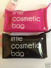 Little Cosmetic Bag Make Up Bag Shiny Pink or Black