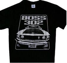 Mustang Boss 302 Ford Tee Cool t'shirt Black