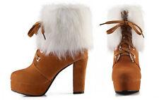 Botines botas zapatos de tacón mujer 13 cm beige caldi cómodo como ante 88