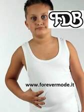 Canottiera da bambino FDB a spalla larga in fresco jersey di puro cotone art 018
