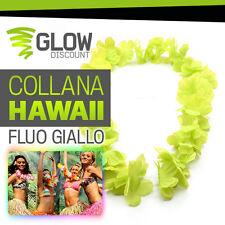 COLLANA HAWAII FLUO GIALLO collana hawaii hawaian party fluo luminosi festa love