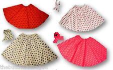 Full Circle Polka Dot Rock N Roll Skirt & Scarf Set 1950s 1960s 60s Fancy Dress
