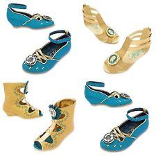Disney Store Merida Costume Shoes Dress Up Brave Princess Gold Glitter Green NEW