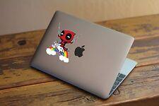 30-104 Deadpool Unicorn Rainbow Macbook Window vinyl decal Wade Wilson
