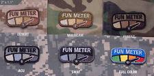 Mil Spec Monkey MSM Fun Meter Patch-Multicam-Woodland-Desert-SWAT-ACU-Full Color