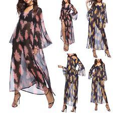 Vestito Donna Caftano Maxi Sopra Leggings Copricostume Kaftan Dress COV0057 P