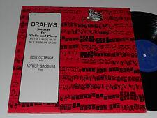 BRAHMS Oistrakh Ginsburg Sonatas violin Piano No 1 in G Major 2 in A USSR album