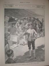Japan army buying cigarettes and Sake at Port Arthur Lüshunkou China 1905 print