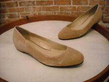 H by Halston Camel Brown Suede Alice Hidden Wedge Ballet Flats NEW