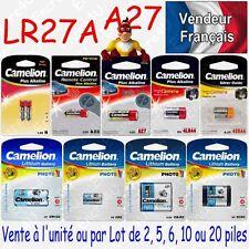 Piles pour télécommandes : LR27A 27A A27 MN27 GP27A 12V ( Livraison Gratuite )