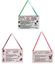 Wood Recipe Christmas Ornament - Grandma, Santa, or Mrs. Claus - Country Rustic
