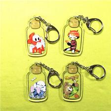 Game Undertale Chara x Asriel Frisk Bottle Keychain Keyring Strap