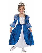 Frost Princess Girls Child Blue Royal Queen Halloween Costume