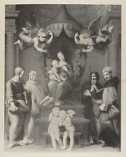 1881-MADONNA DEL BALDACCHINO CON PUTTI- RAFFAELLO-ARTE SACRA-ORIGINALE-FIRENZE