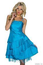 Damen Minikleid Satin Tüll  Partykleid Cocktailkleid Kleid Tanzkleid Träger