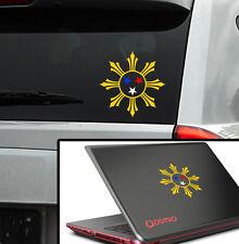 "Philippine 4 colors Vinyl  Car Decal Laptop Sticker 4.5"" (w)  filipino star"