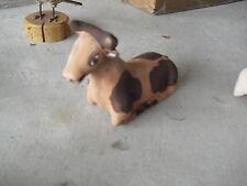 Unique Art Pottery Nativity Cow Figurine