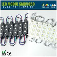 ✅ 2Stk. LED Module in RGB, Weiß, Warmweiß oder Blau 12V IP65 5050 Leuchtwerbung