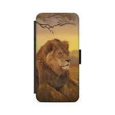 LION Wild Animals Leather Flip Wallet Phone Case