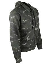 Army Military BTP Black Hoody Zip Hoodie Combat Camo Fleece Jacket
