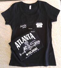 Speed Shop & Nostalgia Drag Racing T-Shirt- Women's- Black & White