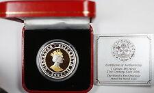 2001 Gibraltar Tri-Metallic 1 Crown Coin Gold Silver Platinum Tri-metal