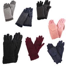 2f63b8d4e9b19b Kuschelig warme Damen Strick Handschuhe Winter Fingerhandschuhe diverse  Farben