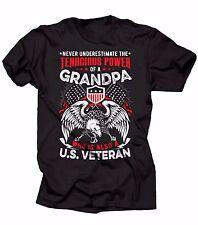 Gift For Grandfather Never Underestimate T-shirt Veteran Grandpa Gifts