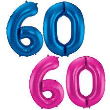 Folienballons Zahlenballons 86cm Deko zum 60. Geburtstag Jubiläum Luftballons