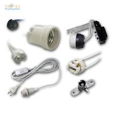 Lampenfassungen versch. Typen und Sockel, Lampenaufhängung, Fassung für Lampen