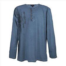 Lavecchia Übergrößen Longsleeve Langarm Shirt *PRINT* Indigo Blau * 3XL + 4XL