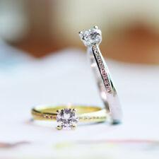 18K White/Gold 925 Silver Band Men's Women's Engagement Wedding Rings Size 4-10