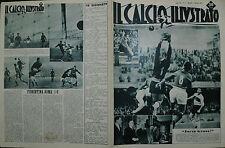IL CALCIO ILLUSTRATO N°02/ 11.GEN.1951- L'INTER RADDOPPIA IL VANTAGGIO SU MILAN
