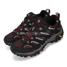 Merrell Moab 2 GTX Gore-Tex Black Syrah Vibram Mens Outdoor Hiking Shoes ML49005