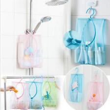 Bathroom Storage Clothespin Mesh Bag Hooks Hanging Bag Organizer Shower Bath C