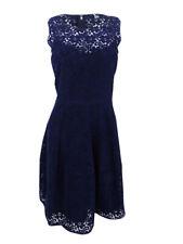 Tommy Hilfiger Women's Velvet Floral Lace Fit & Flare Dress