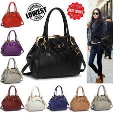 Ladies Designer Shoulder Handbags Bow Framed Satchel Womens Faux Leather Bags