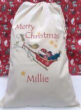 UNICORN PERSONALISED  Santa Sack, gift bag, Christmas, Xmas stocking