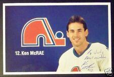 Ken McRae Quebec Nordiques Signed Photo Card