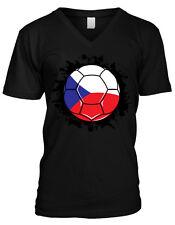 Czech Soccer Ball Flag - Czech Republic Pride Nationality  Mens V-neck T-shirt