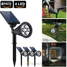 4pcs 4LED Solar Garden Lamp Spot Light Outdoor Lawn Landscape Path Spotlight US