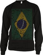Brazil Faded Flag Brazilian Country Pride Born From Heritage Bra Men's Thermal