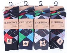 Mens 6 Or 12 Pairs Argyle Socks Check Diamond Suit Golf Cotton Rich Adults  Lot