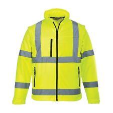 Portwest S428 Hi Vis EN471 Yellow Reflective Softshell Jacket Gilet XL D8 PW5