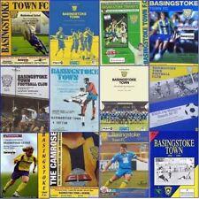 NON League Football Programme BASINGSTOKE TOWN Home Games - VARIOUS