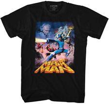 Megaman T-Shirt Mens Capcom POSTERY in 100% Black Cotton Sizes SM - 5XL