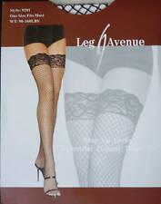 Leg Avenue Fashion Industrial Fishnet Lycra Black Thigh-Hi Stockings One Size