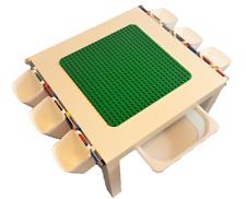 Lego Duplo Spiele Tisch Holzoptik mit Boxen,Schublade,Platte,Brandneu
